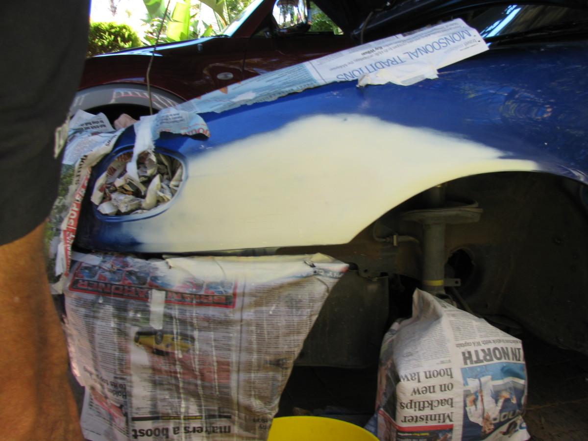 Mending a bumper