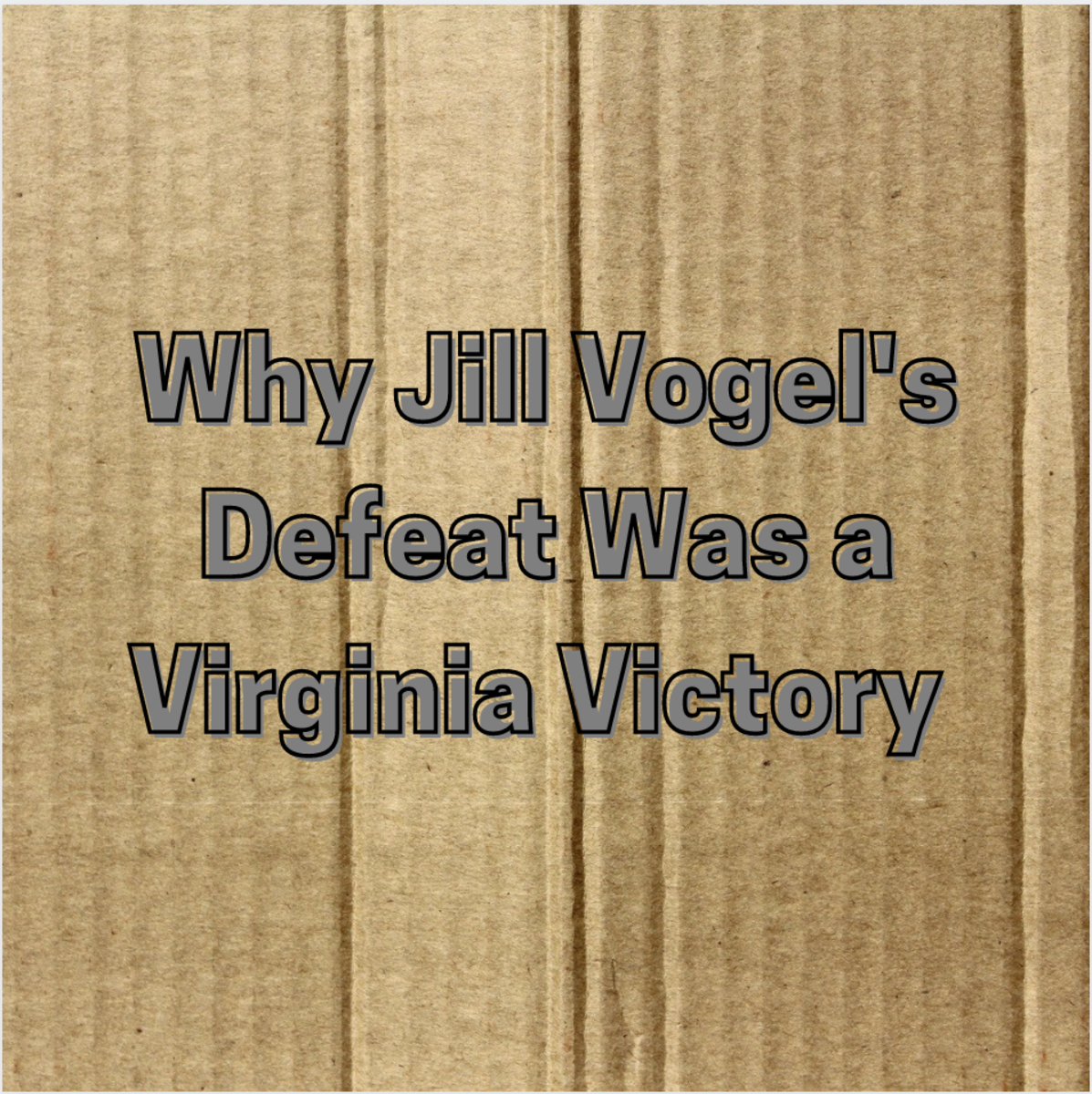 Fortunately for all Virginians, the next lieutenant governor of that same state will never be Virginia State Senator Jill Holtzman Vogel so long as people in that state remain wise to her true colors.