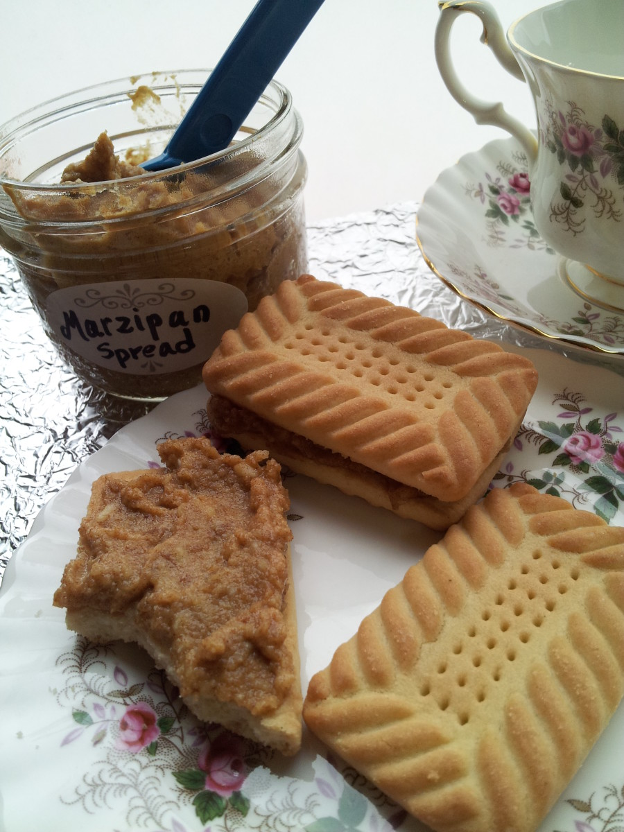 Marzipan on Shortbreads