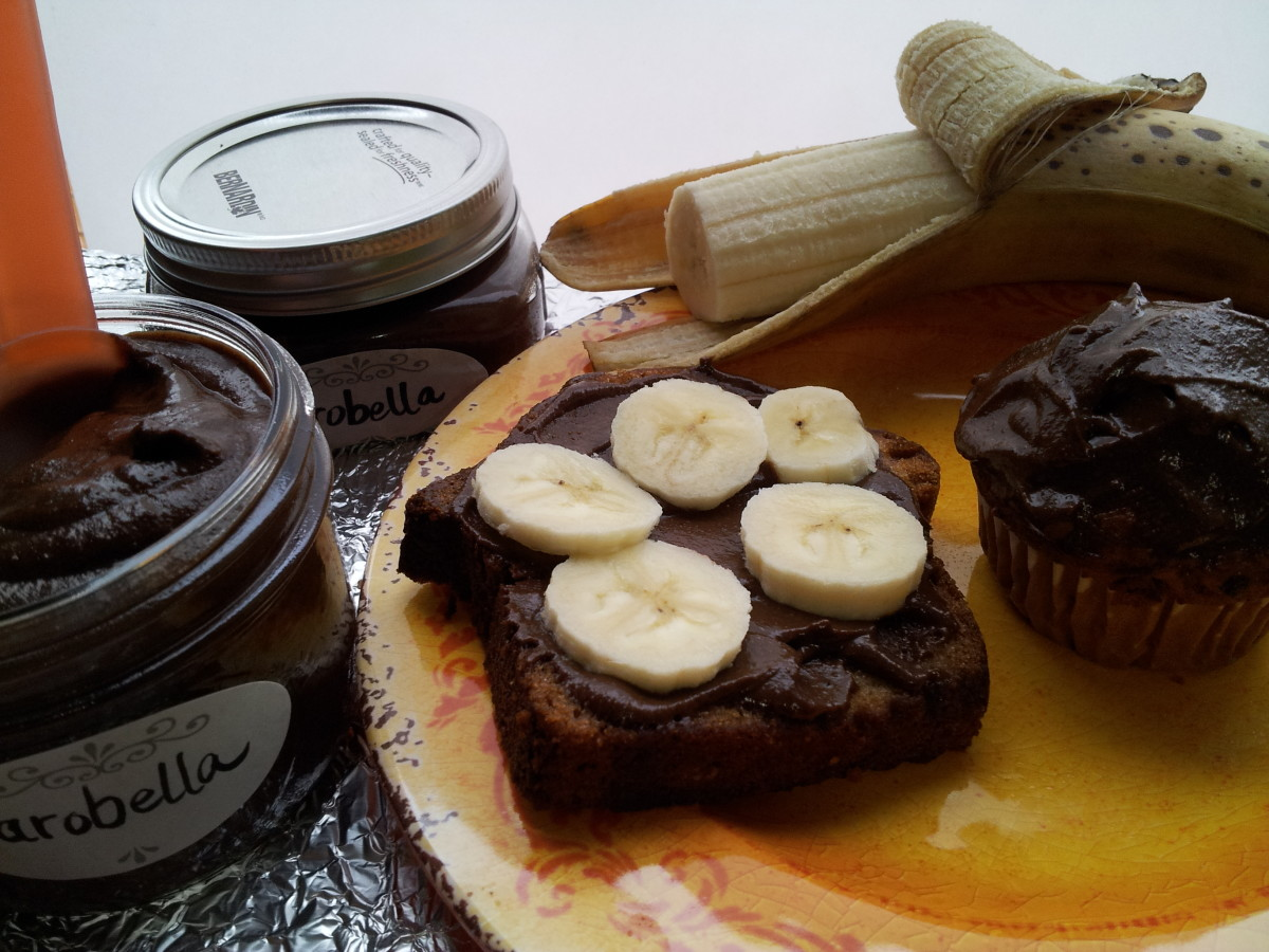 Yummy Carobella!  Banana Bread and Banana Slices love Carobella!