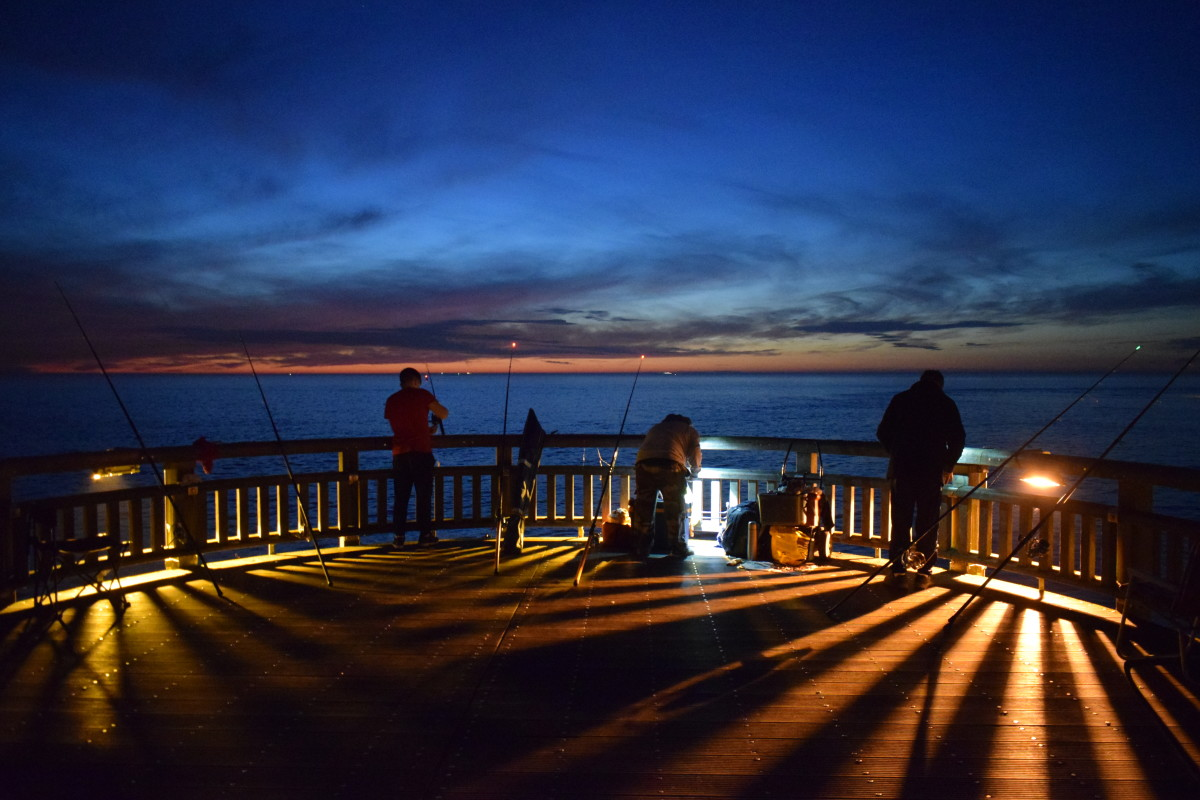Night fishing, Jetée de l'Ouest, Calais