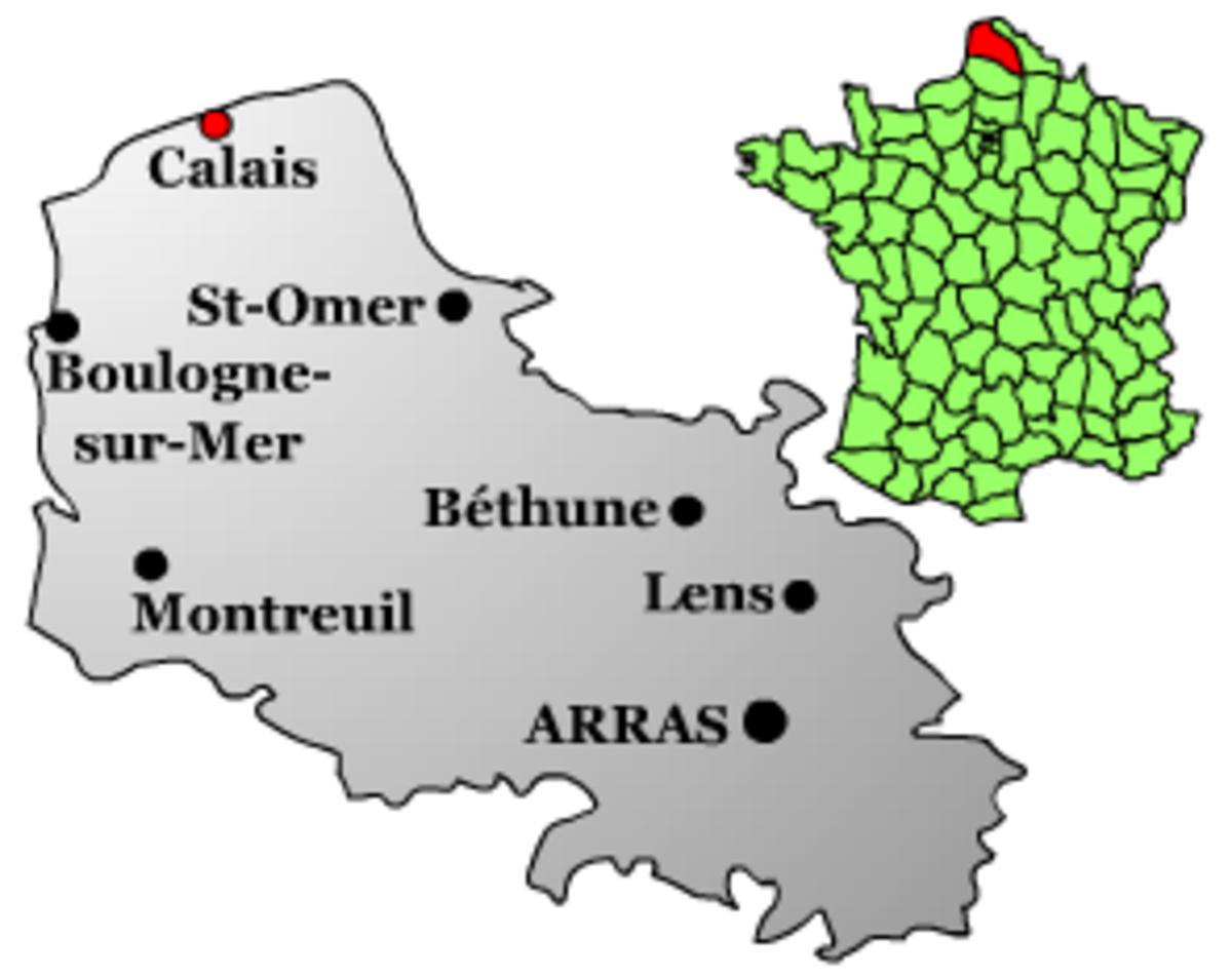 Map location of Calais