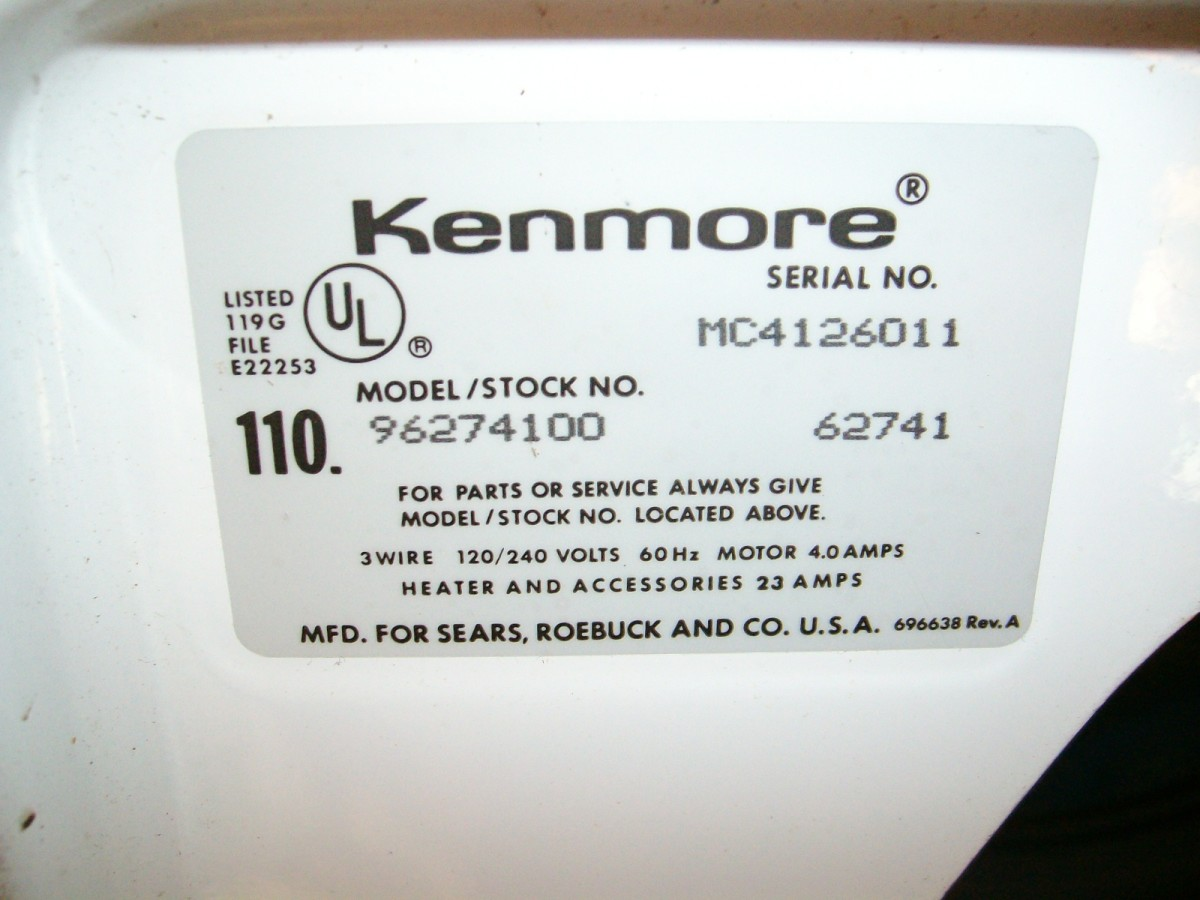 How To Identify Your Kenmore Appliance