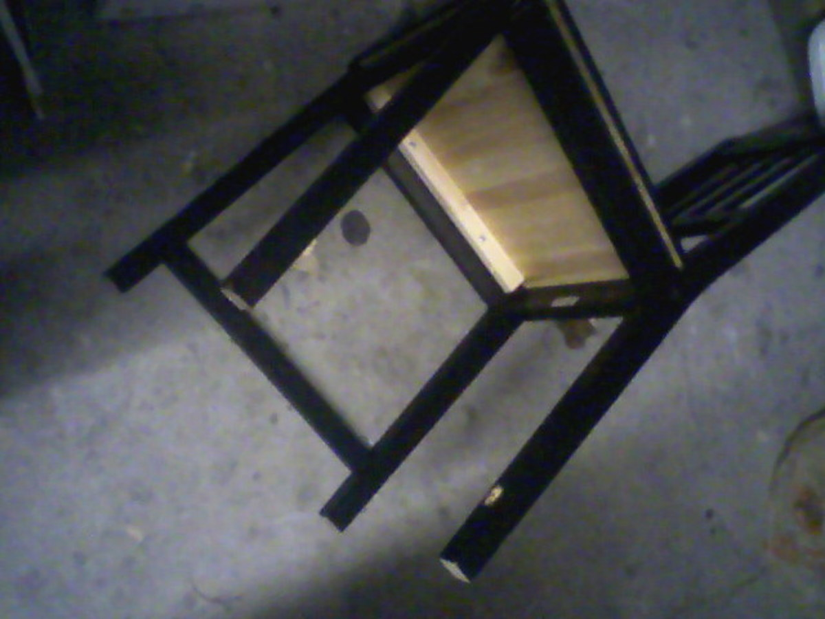 Busted!  This chair needs a brace.