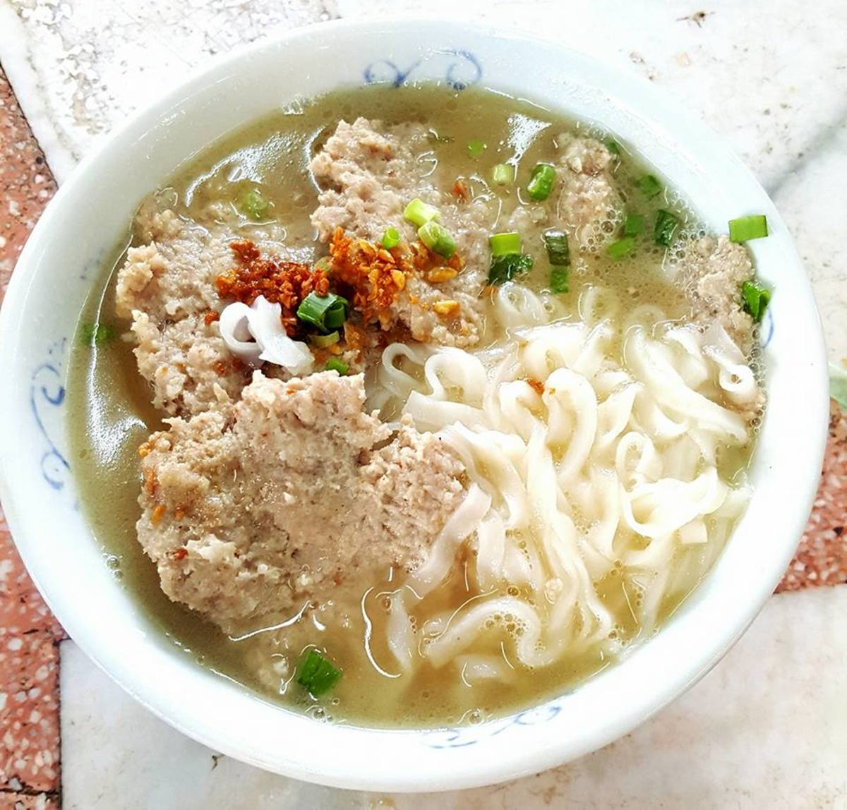 Pork Noodles from a famous restaurant in Ipoh Garden South.