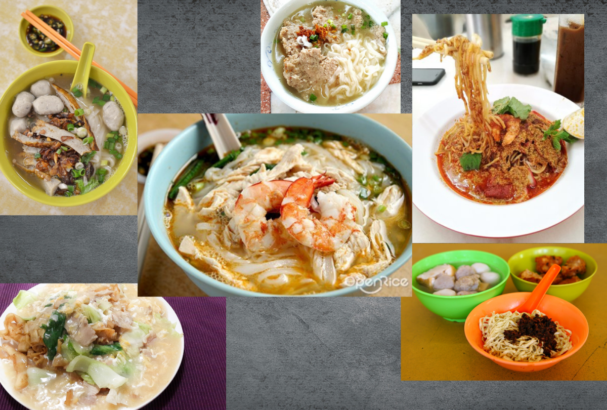 All the noodle dishes of Ipoh, Malaysia.