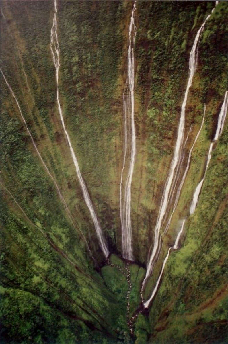 The helicopter flew to the very bottom and hovered at the base of this waterfall - What a thrill! I purchased this photo.