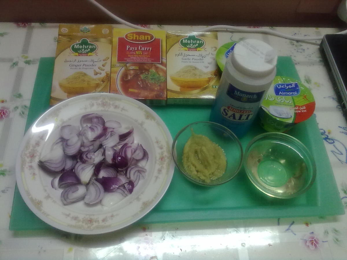 Step 3 - Ingredients Paya Curry