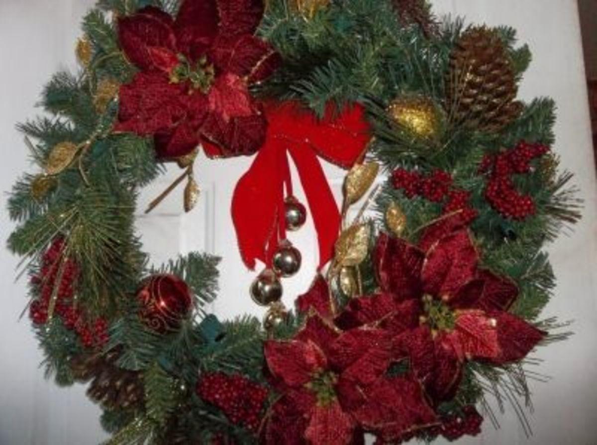 Add a wreath to inside doors.