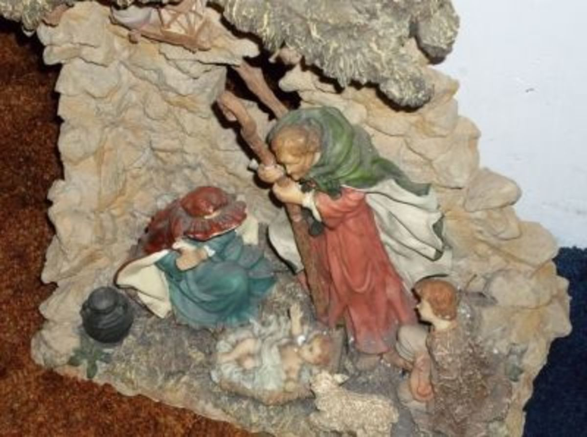 Something old ... an antique nativity gives renewed meaning to Christmas.