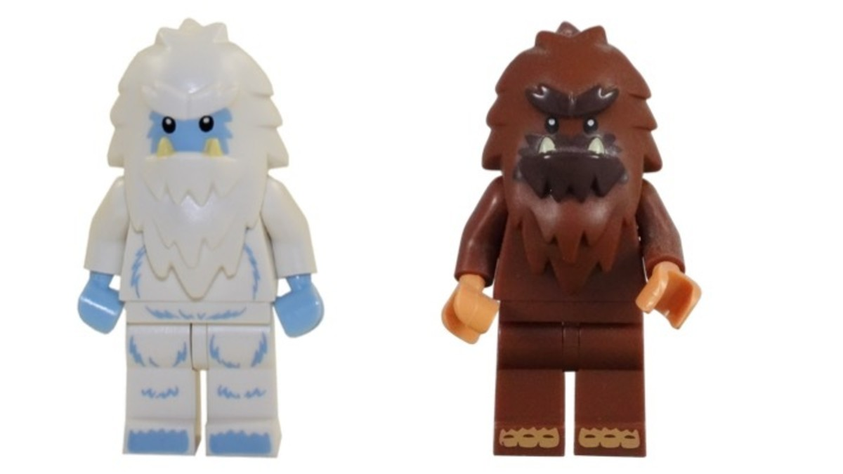 LEGO Yeti and Square Foot Minifigures