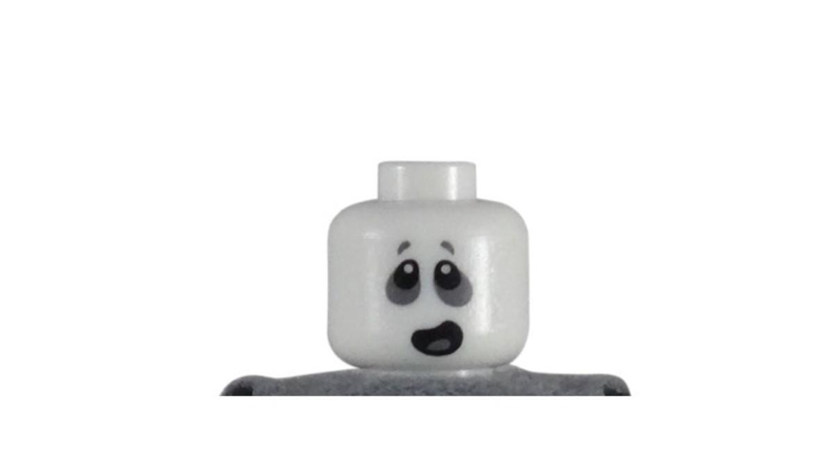 LEGO Spectre Minifigure Glow In The Dark Head