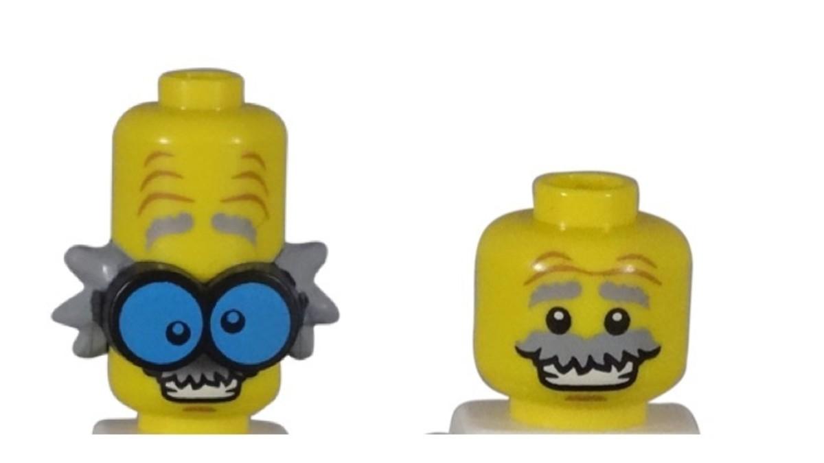 LEGO Monster Scientist Minifigure Head