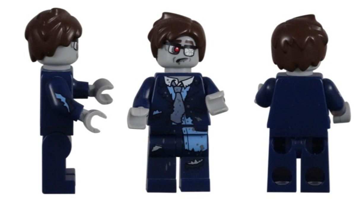 LEGO Zombie Businessman Minifigures 71010-13