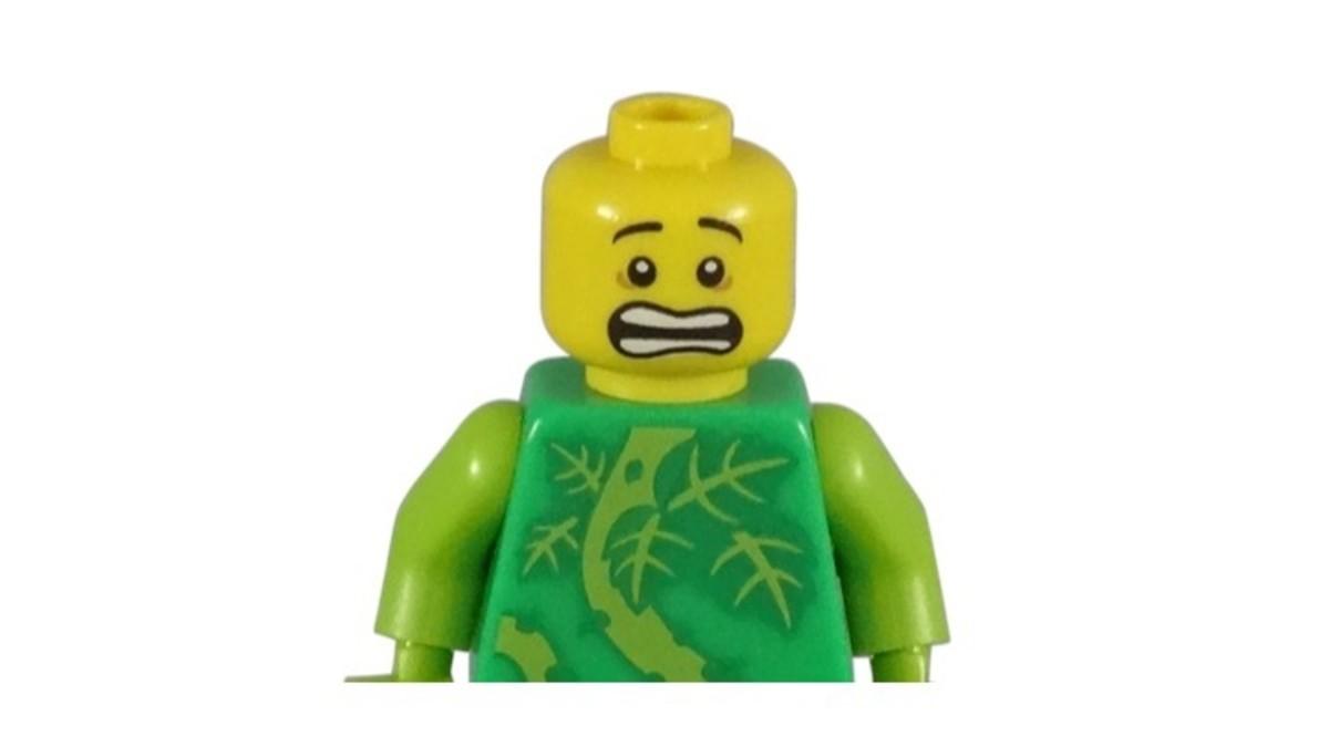 LEGO Plant Monster Minifigure Head