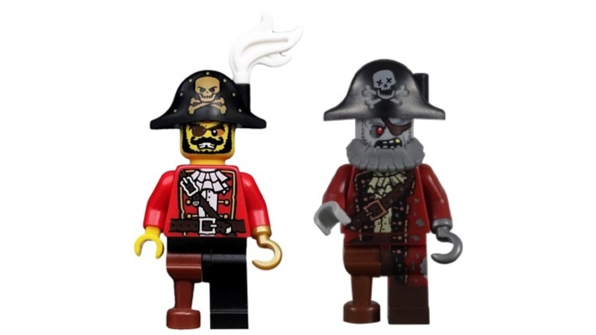 LEGO Pirate Captain and Pirate Zombie Minifigures