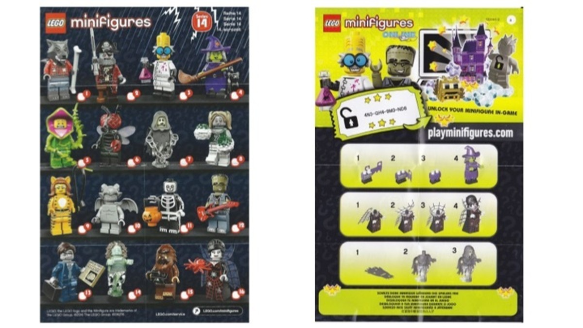 LEGO Minifigures Series 14 Checklist / Instruction Manual