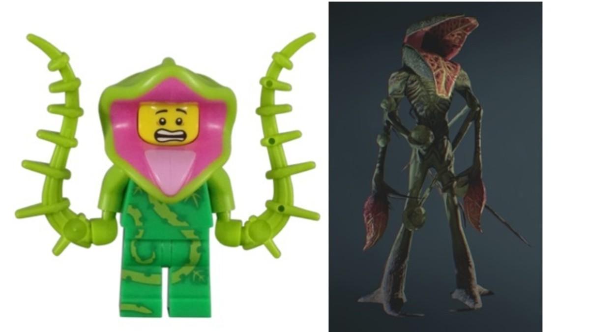 LEGO Plant Monster Minifigure vs Resident Evil Ivy Creature