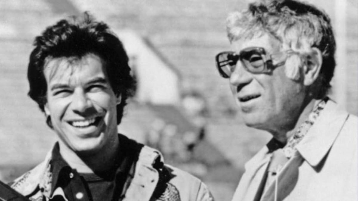 Ed Sabol (Right) and Steve Sabol (Left), the founders of NFL FIlms.