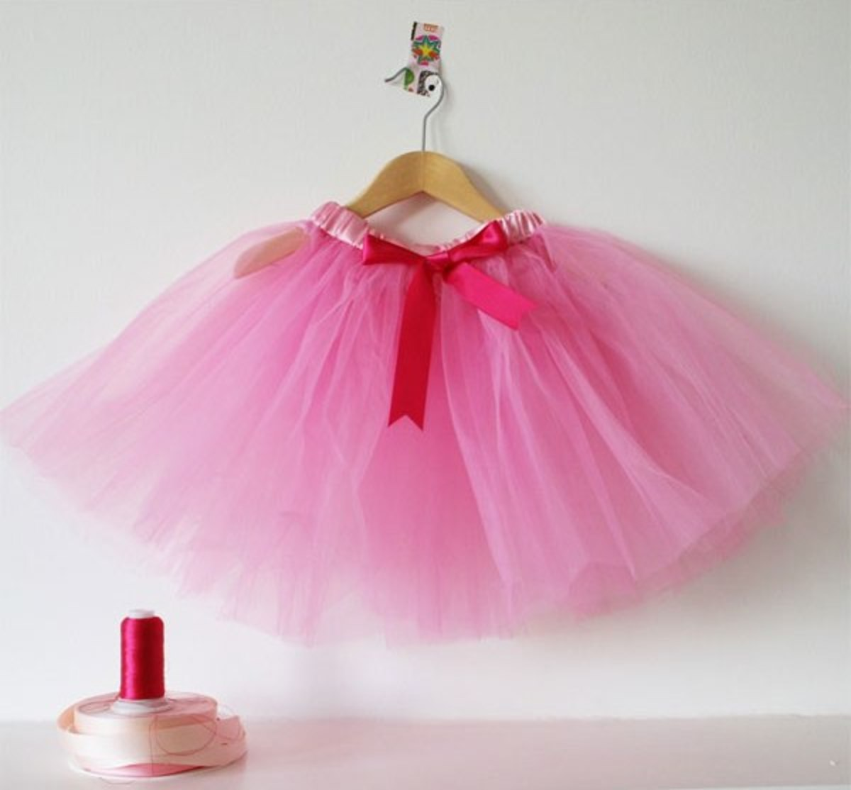 Sew-on Tutu. Sewn at the waist, then string in the elastic or ribbon.