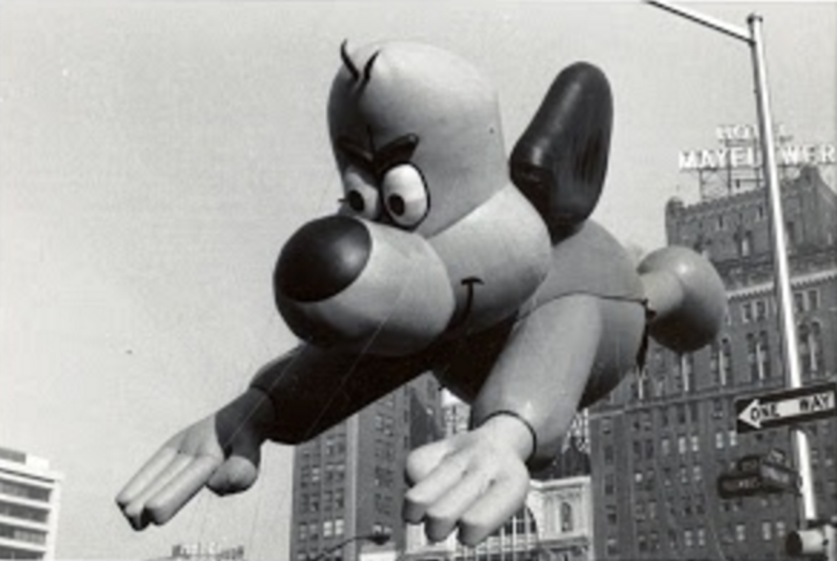 Underdog balloon from the 1965 Macy's Thanksgiving Day Parade