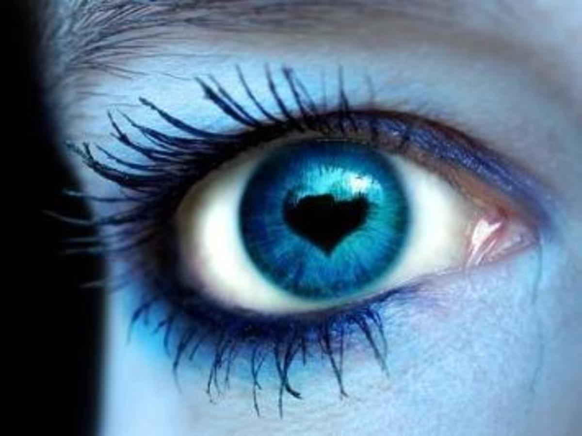 Doe Eyes - Relaxed eye muscles and enlarged pupils indicate interest
