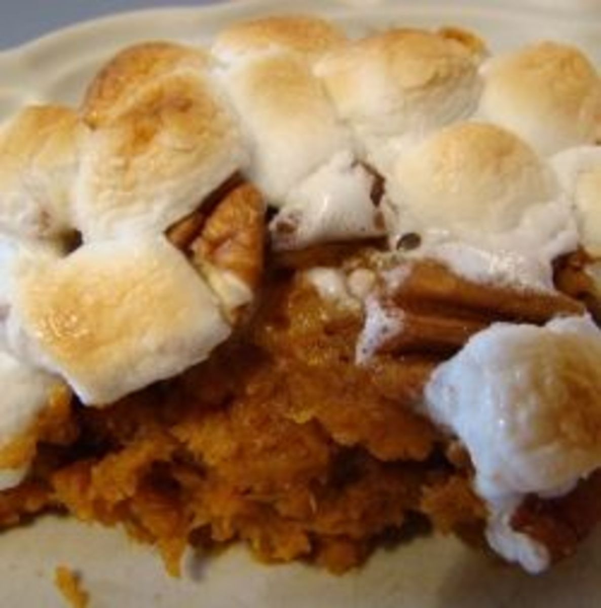 Sweet Potato Casserole with nuts and marshmallows!