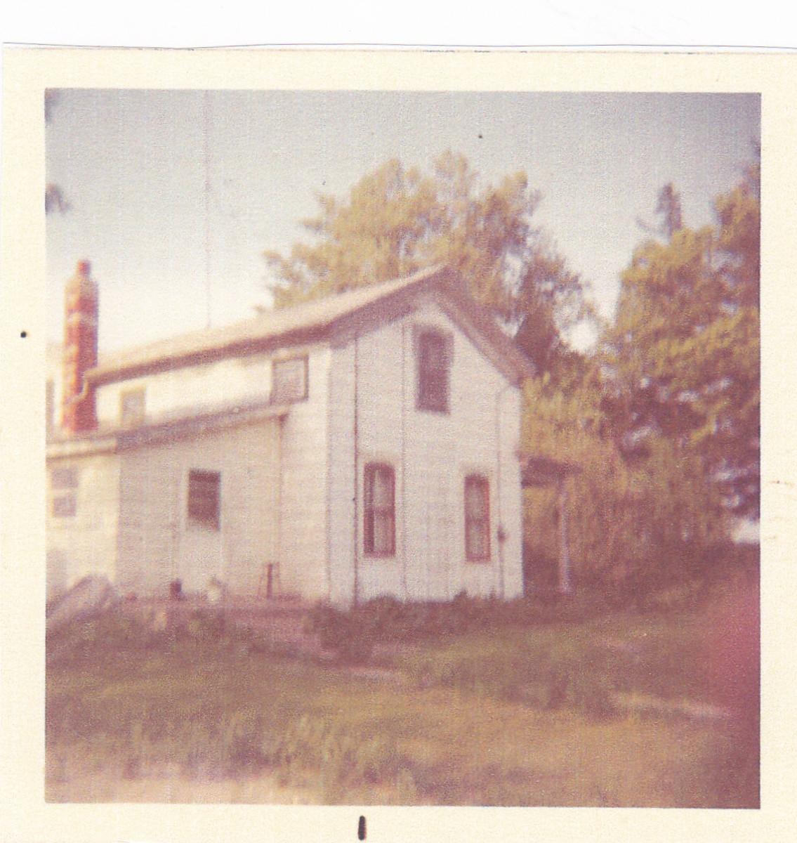 Our Farmhouse.  Picture taken around 1970