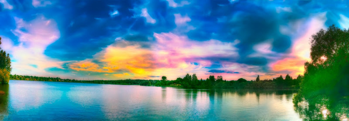Panoramic shot from iPhone into HDR and then photoshoped.
