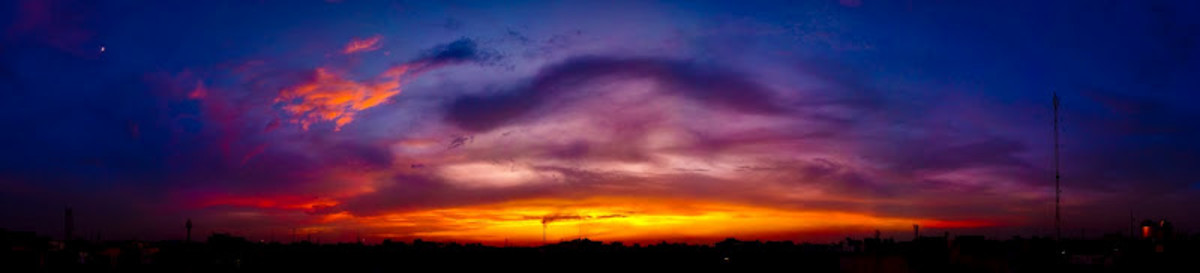 Beautiful evening in Delhi