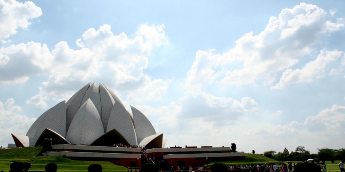 Panoramic shot of Lotus temple.
