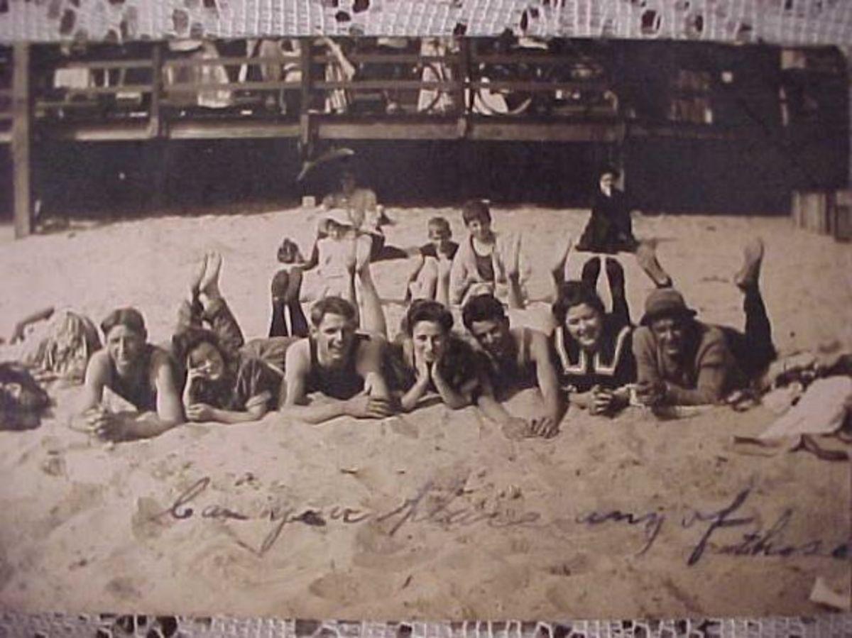 Crystal Beach Park was adjacent to a lovely sand beach.