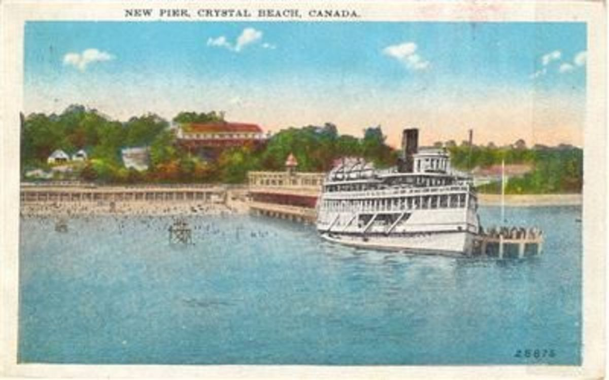 The Canadiana departs from Crystal Beach with passengers returning to Buffalo, NY.