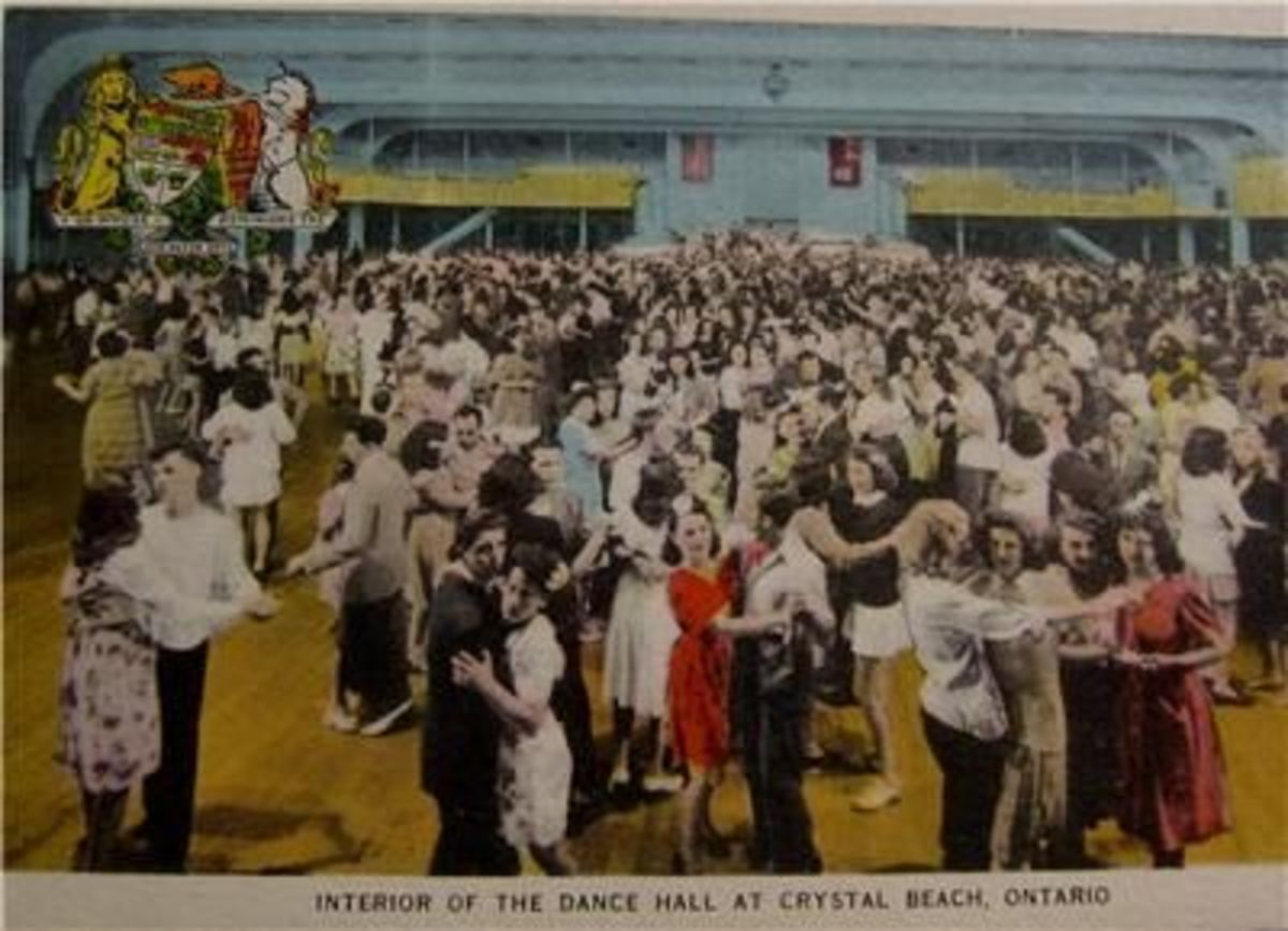 The ballroom floor was always crowded in 1940s as people came to dance to the Big Bands.