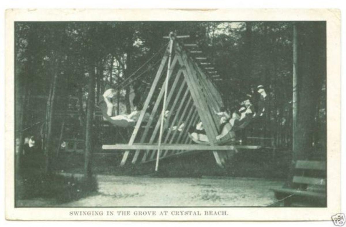 Early ride, Venetian Swings, circa 1900.