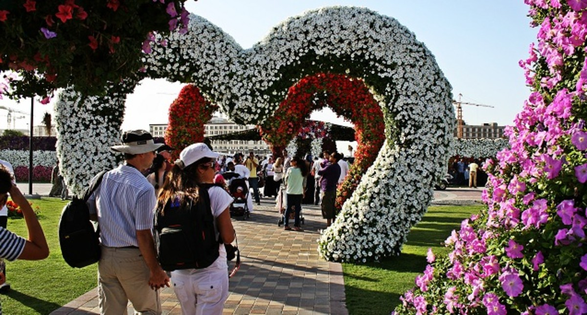 Floral Heart Shaped Arches