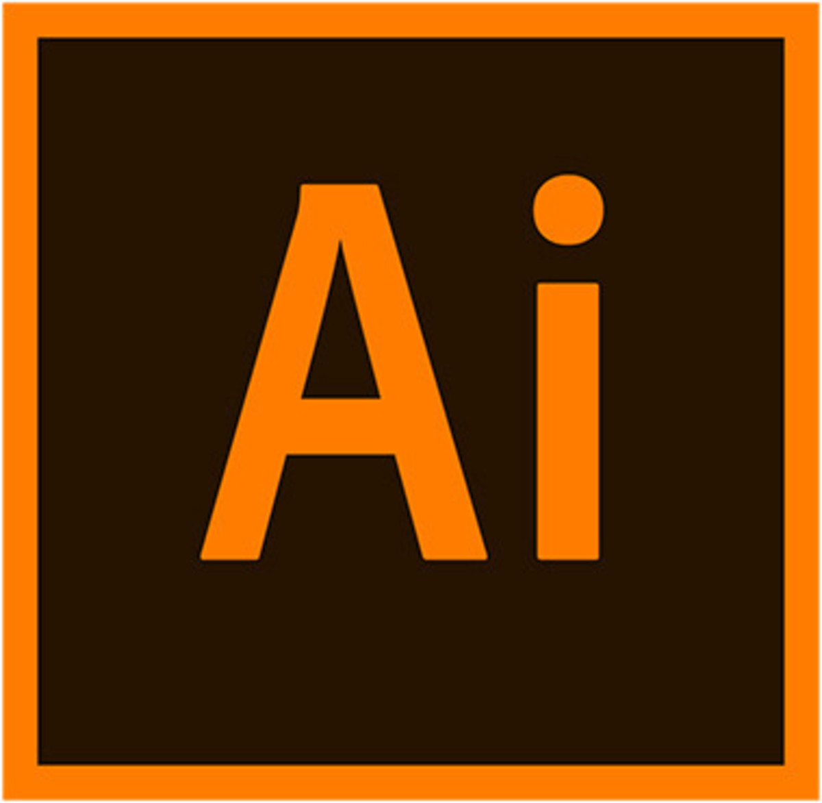 The above image is the logo for Adobe Illustrator