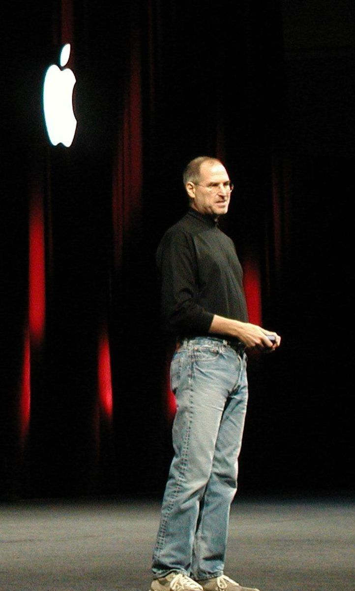 Steve Jobs during a product presentation