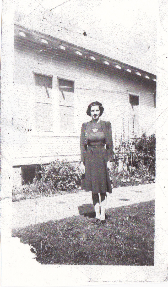 My mother in 1940 or 1941 before marriage.