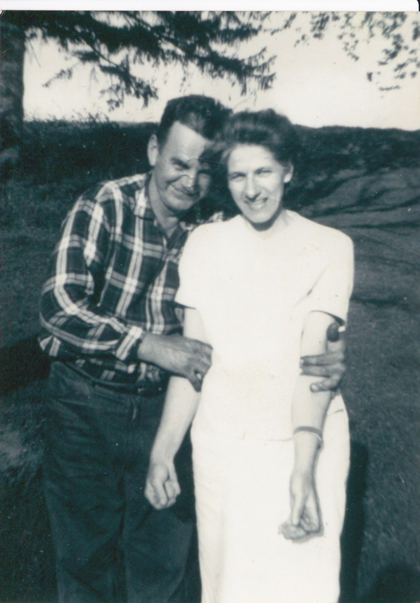my father and mother,  picture taken around 1960.