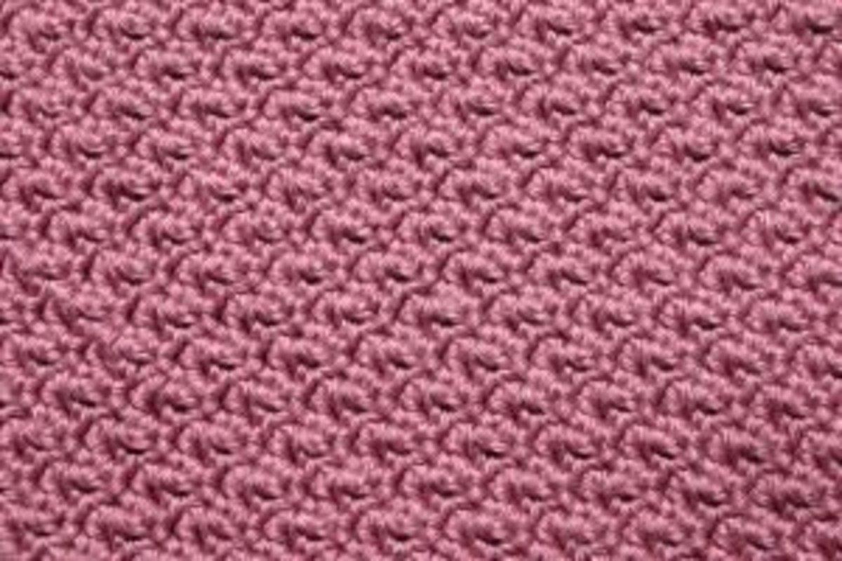 A beautiful stitch in pink yarn
