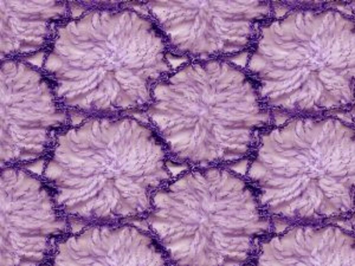 Beautiful crochet design on a blanket