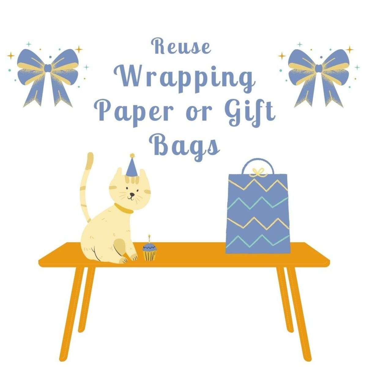 Save a beautiful gift bag or lovely wrapping paper for the next gift you're planning on giving!
