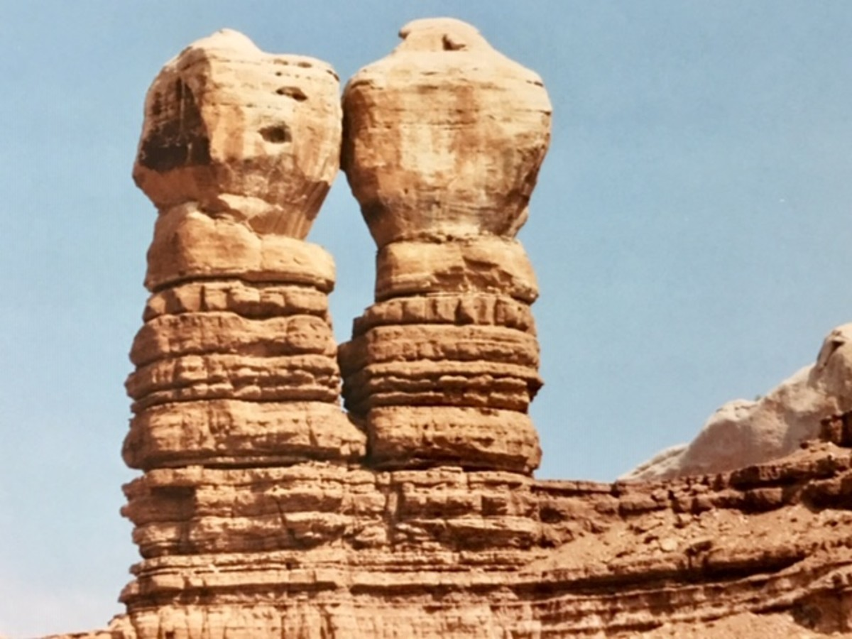 Natural rock formation at Arches National Park in Moab, UT