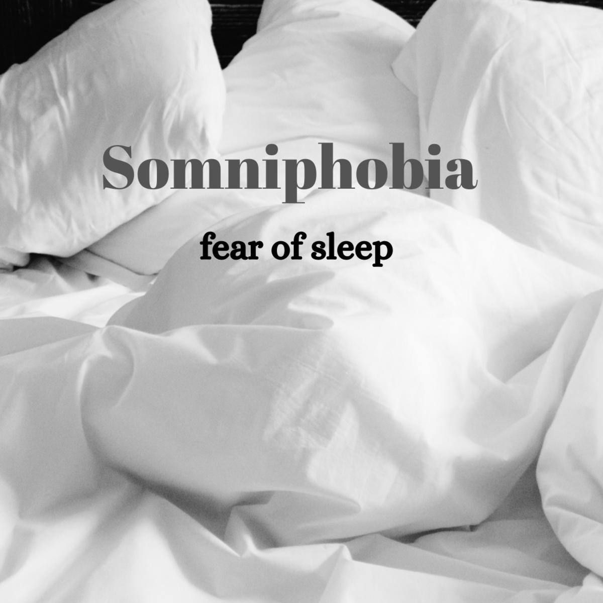 Somniphobia, a fear of sleep