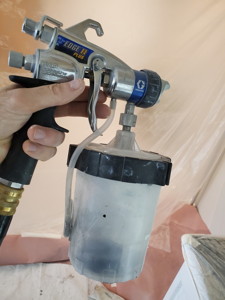 My HVLP sprayer I use for shelves and small fine finishing projects.