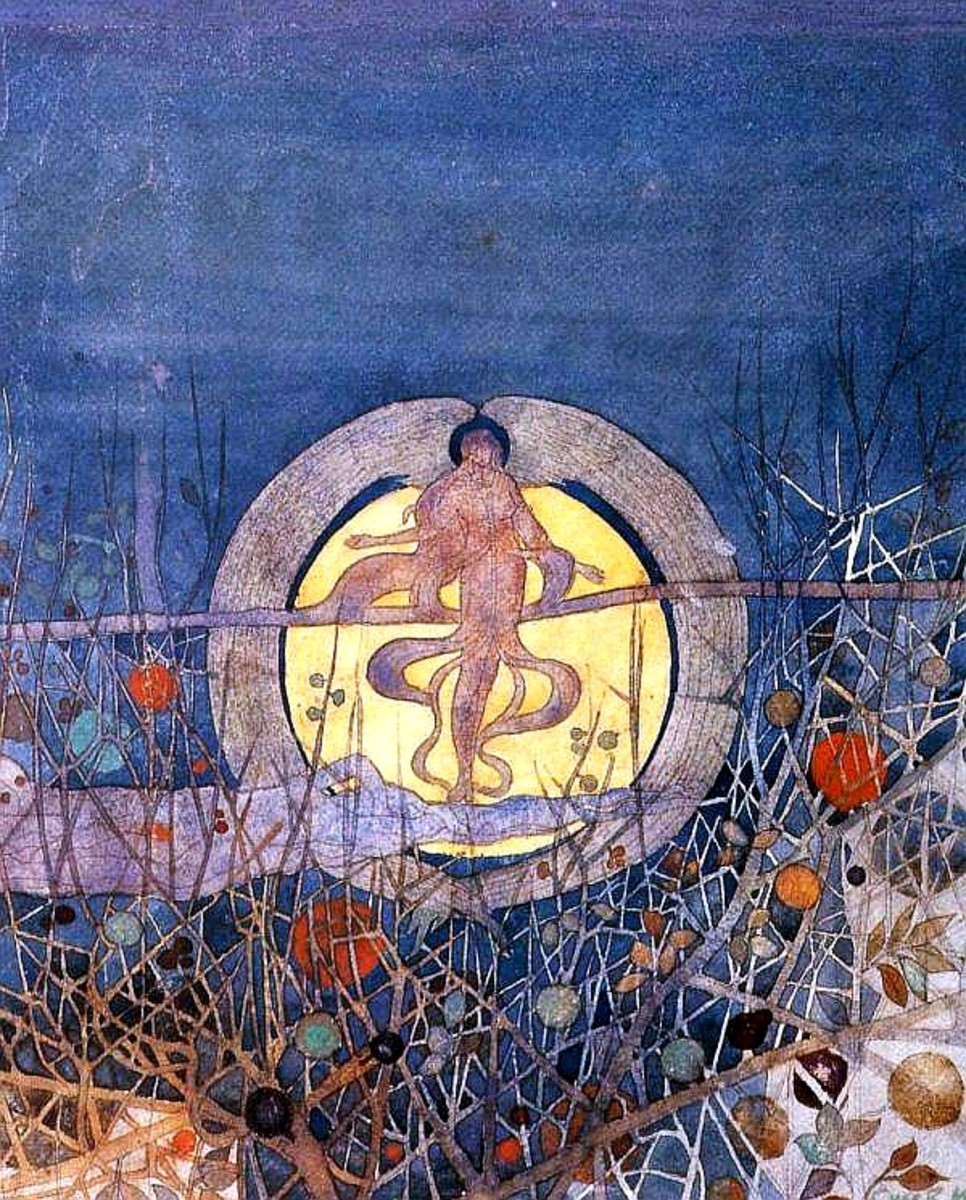 The Harvest Moon, painted in 1892, is perhaps, one of Charles Rennie Mackintosh's most hauntingly beautiful and iconic paintings.