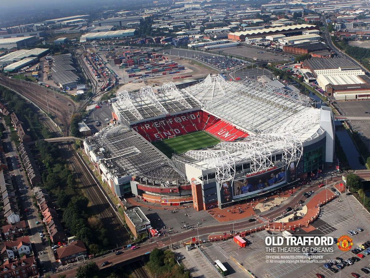 Old Trafford From The Air