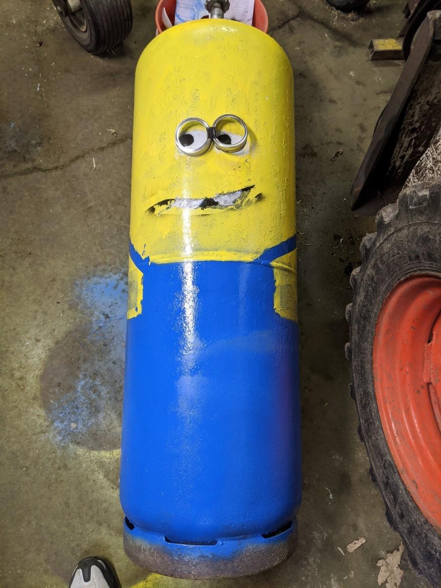 Fish House Propane Tank Paint Job