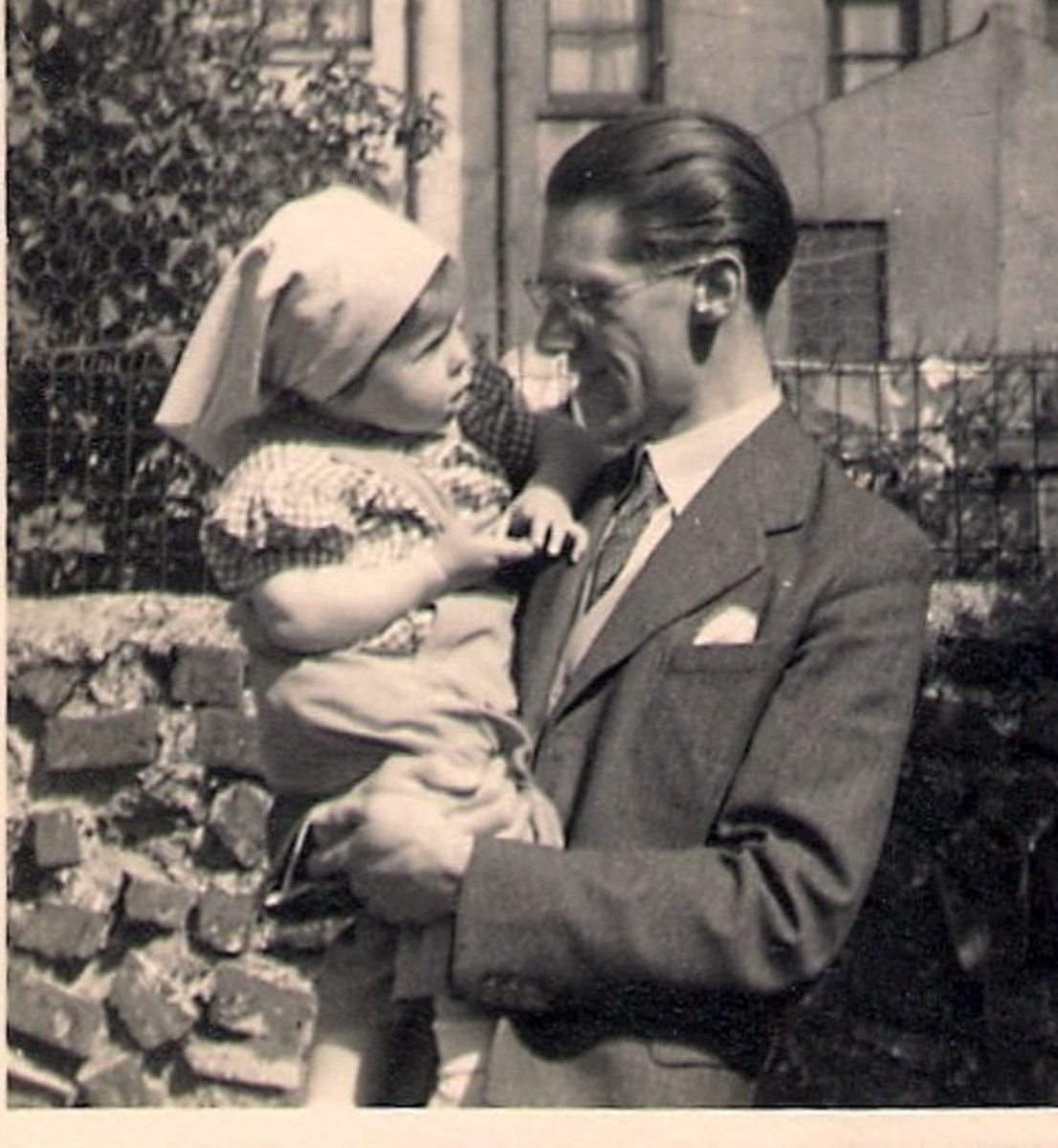 Dad with Little Me!